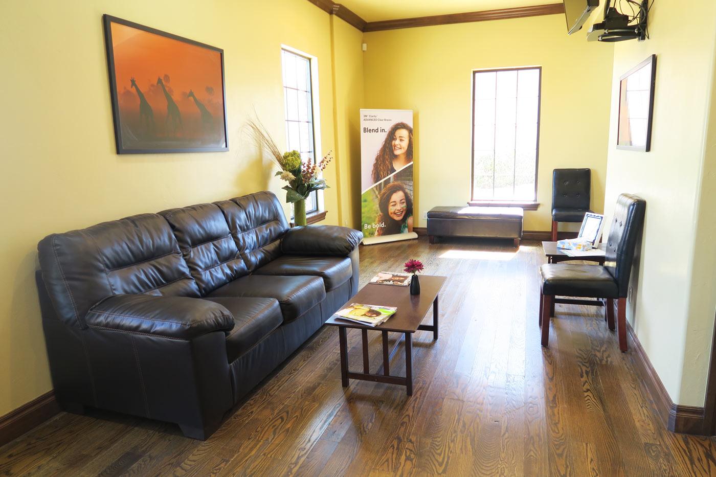 waiting room, orthodontist office, Marlo A. Miller DDS, Yukon OK